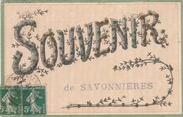 37--SAVONNIERES--SOUVENIR EN PAILLETTES-VOIR SCANNER - France
