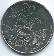 Australia - Elizabeth II - 20 Cents - 2016 - Thai-Burma Railway - Decimal Coinage (1966-...)
