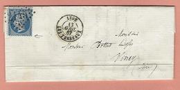 Lettre De BOLLENE VAUCLUSE Avec N° 10 - Poststempel (Briefe)