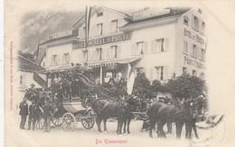 SWITZERLAND-SCHWEIZ-SUISSE-SVIZZERA-ALTDORF-HOTEL TELL ET POSTE-DIE KLAUSENPOST-CARTOLINA VIAGGIATA IL 20-11-1900 - UR Uri
