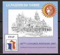 France 2007 Bloc FFAP N° 1 Congrès De Poitiers - FFAP