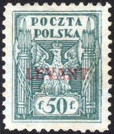 ~~~ Poland Pologne 1919 - Levant Postoffice In Turkey - Mi. 7 MH * - Cat. 200.00 Euro  ~~~ - Levant (Turquía)