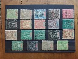 EX COLONIE FRANCESI Fine '800 - INDOCINA E ALTRI - Lotticino 19 Francobolli Differenti Nuovi/senza Gomma/timbrati - Indochine (1889-1945)