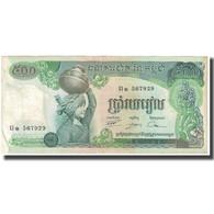 Billet, Cambodge, 500 Riels, KM:16b, TTB+ - Cambodia