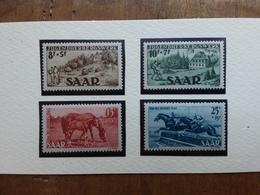 SARRE - Occupazione Francese 1949 - Pro Gioventù E Giornata Del Cavallo - Nuovi ** + Spese Postali - 1947-56 Protectorate