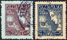 ~~~ Poland Pologne 1927 - Surtax For Public Schools - Mi. 247/248 (o)  ~~~ - 1919-1939 Republic