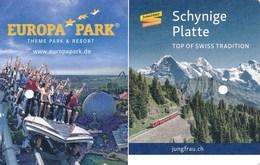 Schweiz Jungfrau - Bahn Fahrkarte 2. Klasse 2018 Wildeswil Schynige Platte Europa-Park - Europa