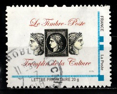 Timbre Personnalisé : Le Timbre-Poste, Tremplin De La Culture. - France