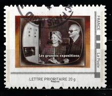 Timbre Personnalisé : Souvenirs De La Télé : Les Grandes Expositions. - France