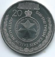 Australia - Elizabeth II - 20 Cents - 2017 - Australian Active Service Medal - Decimal Coinage (1966-...)