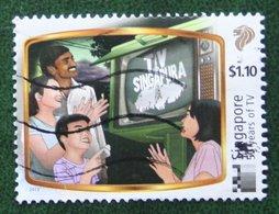 $1.10 50 Years Of TV Television Mi ? 2013 Used Gebruikt Oblitere SINGAPORE SINGAPUR - Singapur (1959-...)