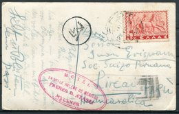 Greece Athens Parthenon Postcard. Mycenes Hotel - Peru - Greece
