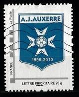 Timbre Personnalisé : A.j. Auxerre 1995 - 2010. - France