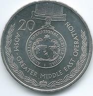 Australia - Elizabeth II - 20 Cents - 2017 - Australian Operational Service Medal - Greater Middle East - Decimal Coinage (1966-...)