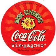 Belgium. Coca-Cola. Music Experience. B.O.I.C. Tombola C.O.I.B. Win - Gagnez: Multimedia Music Towers, 3000 CD's. - Sous-bocks