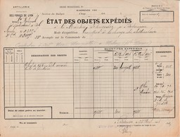 1916 / 9838 Obus Fonte Expédiés / Cie Nale Radiateurs / 39 Dôle Jura / à Automobiles Schneider Besançon - 1914-18