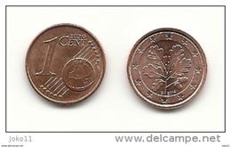 1 Cent, 2014, Prägestätte (G) Vz, Sehr Gut Erhaltene Umlaufmünze - Deutschland