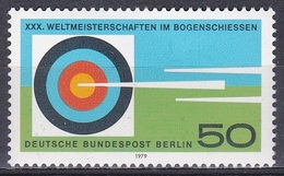 Deutschland Germany Berlin 1979 Sport Spiele Bogenschießen WM Archery Bows Arrows Zielscheibe Target, Mi. 599 ** - Berlin (West)