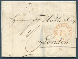 1833 Rotterdam Entire - Huth & Co. Bankers London FPO - ...-1852 Prephilately