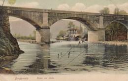 BORGOSESIA-VERCELLI-PONTE SUL SESIA-CARTOLINA VIAGGIATA IL 14-9-1905 - Vercelli
