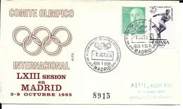 JEUX OLYMPIQUES  MADRID 1965  - OLYMPICS GAMES OLYMPISCHE SPIELE  CIO COMITE INTERNATIONAL OLYMPIQUE - Juegos Olímpicos