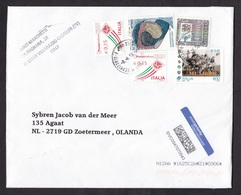 Italy: Cover To Netherlands, 2019, 5 Stamps, Rugby, Sports, Priority International Label (traces Of Use) - 1946-.. Republiek