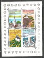 Switzerland 1987 Year , Used Block - Blocs & Feuillets