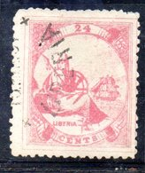 APR258 - LIBERIA 1880 , Yvert N. 14 Usato   (2380A) . - Liberia
