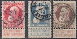 BELGIE - BELGIQUE - 1905 - Lotto Composto Da 2 Valori Usati: Yvert 74 E 77. - 1905 Barba Grossa