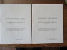 BALLAN-MIRE INDRE ET LOIRE LA MAISON GRISE MADEMOISELLE BERNADETTE DE SAINTE FARE AVEC MONSIEUR GUY HERPIN - Mariage