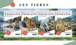 TOGO 2018 - Tigers - Mi 9071-4 - Big Cats (cats Of Prey)