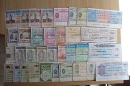 ITALIA 34 MINI ASSEGNI VARIE BANCHE TUTTI USATI LOTTO INTERESSANTE - [10] Cheques En Mini-cheques