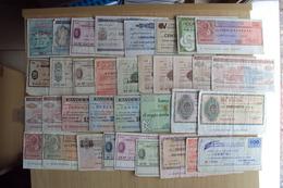 ITALIA 35 MINI ASSEGNI VARIE BANCHE TUTTI USATI LOTTO INTERESSANTE - [10] Cheques En Mini-cheques