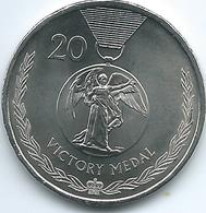 Australia - Elizabeth II - 20 Cents - 2017 - Victory Medal - Monnaie Décimale (1966-...)
