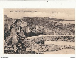 ALGERIE ALGER SUR LA TERRASSE CPA BON ETAT - Algérie