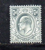 APR261 - GRAN BRETAGNA 1909 , 7 P. Unificato N. 123  *  Linguellato   (2380A) . - Nuovi