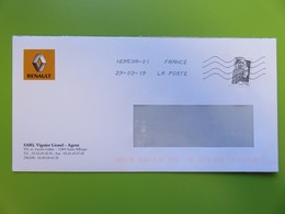 Enveloppe Sigle Renault - Garage Viguier à St Affrique (Aveyron) - Timbre YT 5251 - Marianne L'Engagée Ecopli 20 G - 2018-... Marianne L'Engagée