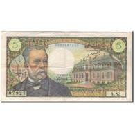 France, 5 Francs, 5 F 1966-1970 ''Pasteur'', 1968-08-01, TB+, Fayette:61.8 - 1962-1997 ''Francs''