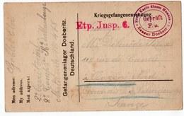 DOEBERITZ  PRISONNIERS DE GUERRE  1916  FRANCHISE MILITAIRE - Marcophilie (Lettres)
