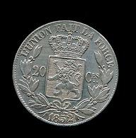 BELGIE LEOPOLD I   20 CENT 1852  2 SCANS - 1865-1909: Leopold II
