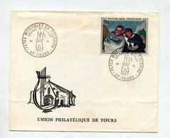 Lettre Cachet Tours Fete Musicale Sur Daumier - Marcophilie (Lettres)