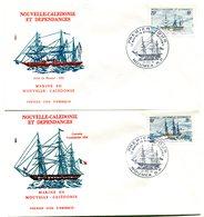 Nouvelle Calédonie - FDC Yvert 449 & 450 Marine En Calédonie - X 992 - FDC
