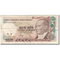 Billet, Turquie, 5000 Lira, 1970, KM:198, TB - Turquie