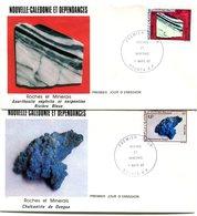 Nouvelle Calédonie - FDC Yvert 455 & 456 Roches Et Minerais - X 1001 - FDC