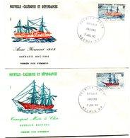 Nouvelle Calédonie - FDC Yvert 459 & 460 Bateaux Anciens - X 1007 - FDC