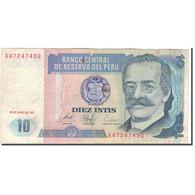 Billet, Pérou, 10 Intis, 1987-06-26, KM:129, TB+ - Peru