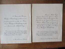 PARIS LE 28 MAI 1938 LE BARON LIONEL HARTY DE PIERREBOURG AVEC MADEMOISELLE MICHELLE COZE EGLISE SAINT SULPICE - Mariage