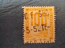 """1944-47 Petits Colis Postaux - Timbre Oblitéré   N° 23    """"  100 F Jaune  """"      3 Euros - Pacchi Postali"""
