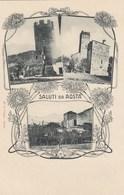 AOSTA-SALUTI DA(TIPO GRUSS)3 VEDUTE-CARTOLINA NON VIAGGIATA -ANNO 1900-1904 - Aosta