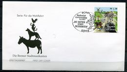 """Germany 2017 First Day Cover Mi.Nr.3287 (Selbstkleber) """"Wohlfahrt Märchen-Die Bremer Stadtmusikanten""""1 FDC - Contes, Fables & Légendes"""